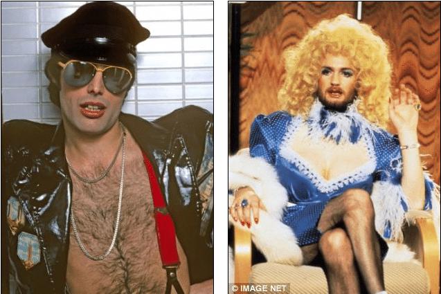 Freddie Mercury and Kenny Everett