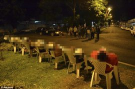 Mexican drug war sees seven men executed and dumped in chairs.