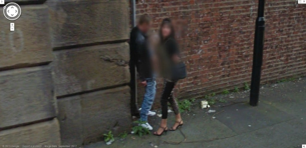 Google streetview handjob