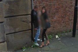 Google streetview captures public handjob courtesy of prostitute.