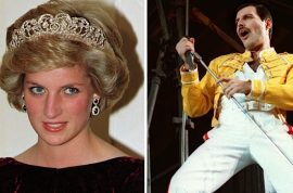 Oh really? Lady Di dressed as a male model with Freddie Mercury at gay bar.