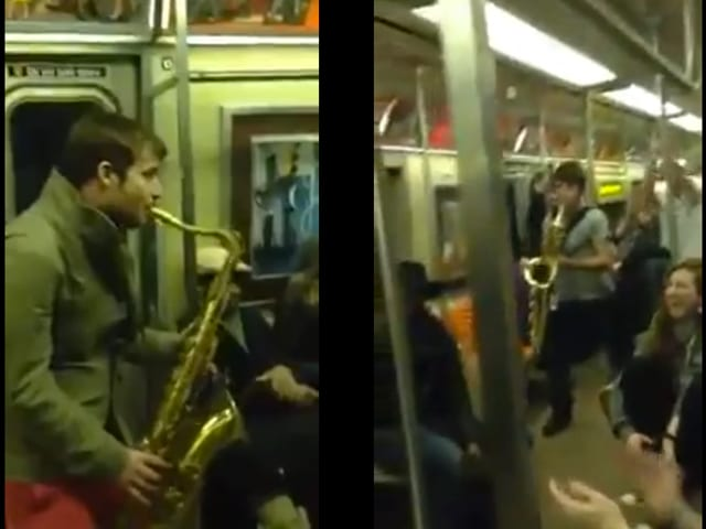 Subway Sax battle