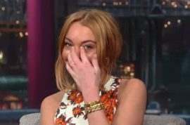Why Lindsay Lohan cried with David Letterman.