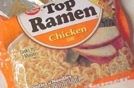 Oh really? Georgi Readman only eats Ramen noodles.
