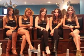 Star Shine is the hooters of shoe cleaning. Skimpy tops and tight leggings.