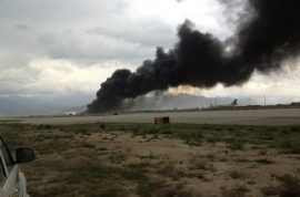 Scary! Bagram airfield crash caught live by dash cam video.
