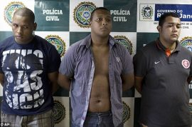 Girlfriend gang raped for six hours whilst boyfriend forced to watch on in Rio de Janeiro.