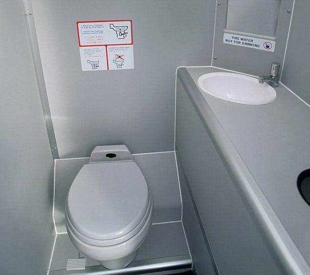 Plane toilets