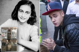 Oh really? Justin Bieber claims Anne Frank would have been a 'Belieber…'