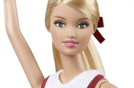 Rebecca Martinson of Delta Gamma sorority gets a Barbie video take too.