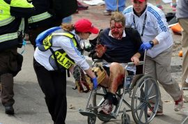 Boston Marathon Bomb. 2 dead, 64 injured with missing limbs.