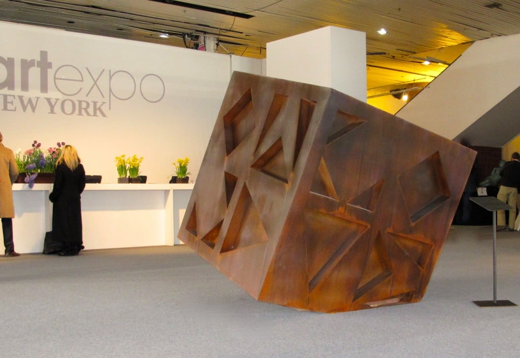 Jon Koones sculpture which displayed prominently at the recent NY Art Expo Fair.
