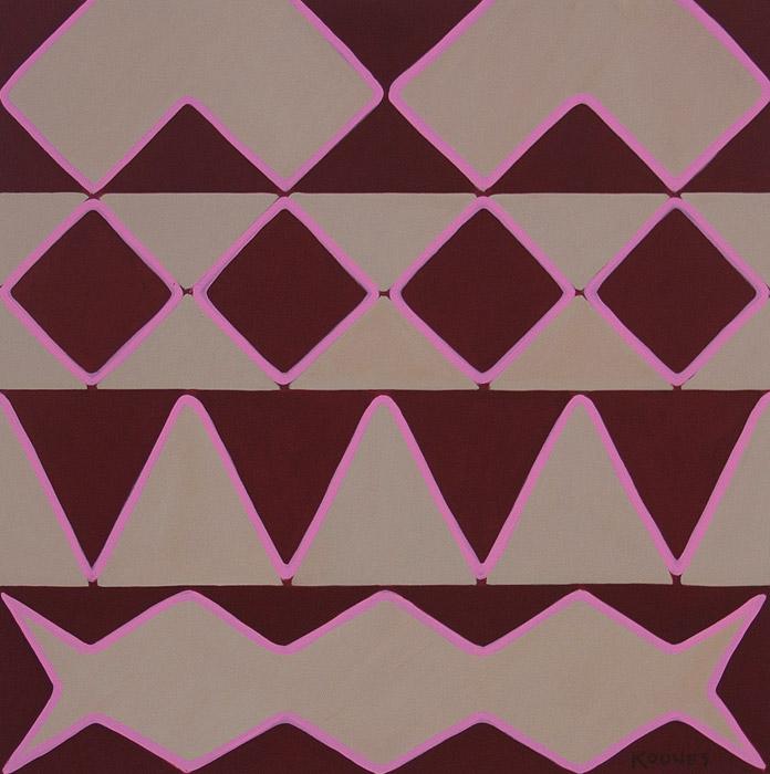 """Jon Koones-LOVE : 48"""" x 48"""" acrylic on canvas"""
