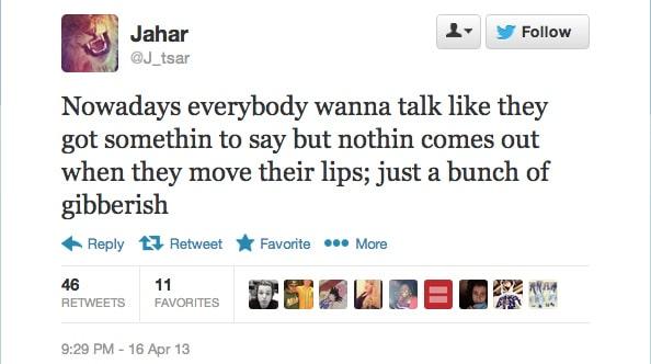 Dzhokhar A. Tsarnaev twitter