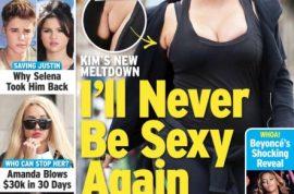 Kim Kardashian flabby armpits are gross and putting on six pounds a week.