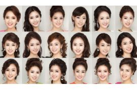 Miss Korea 2013 contestants all look alike because they all use the same plastic surgery tricks?