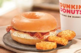 Hmm, Dunkin Donuts would like to introduce its glazed egg donut sandwich…