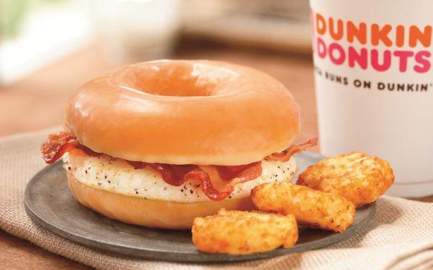 Dunkin Donuts glazed egg donut sandwich