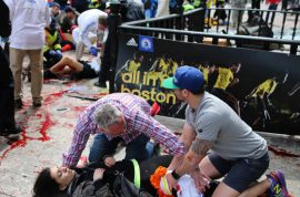 Boston Marathon bombing. No suspects no leads, man of interest sought.