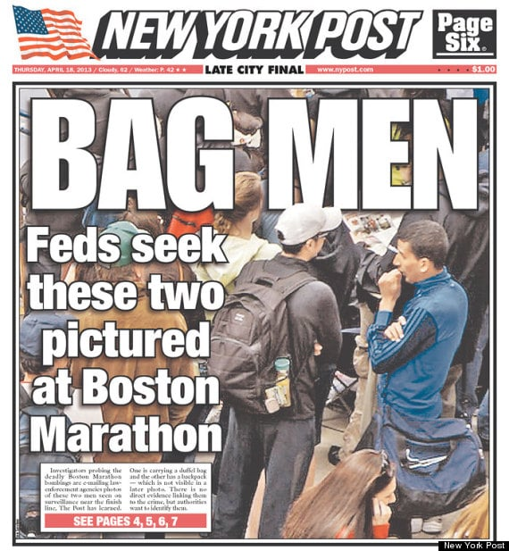 Bag Men NY Post Marathon Bombing