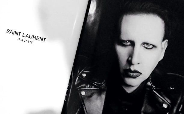 Marilyn Manson for Saint Laurent.
