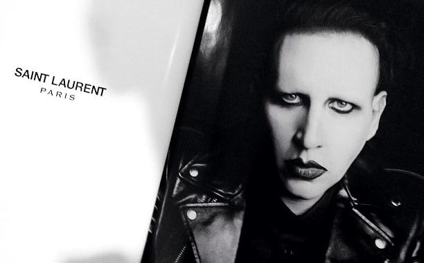 Marilyn Manson for Saint Laurent.