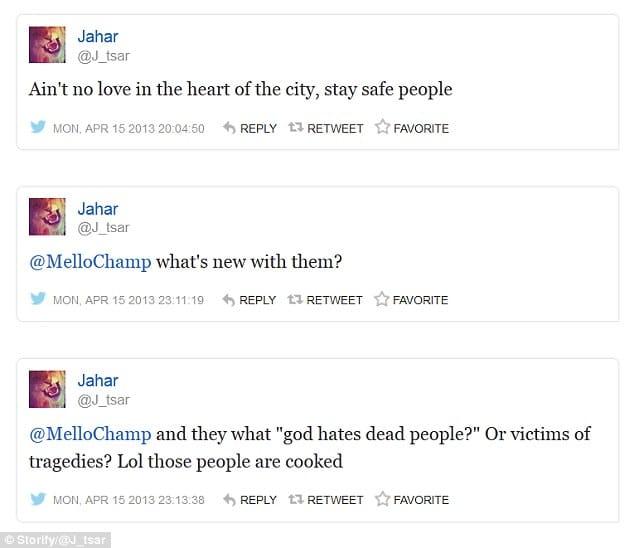 Dzhokhar Tsarnaev twitter