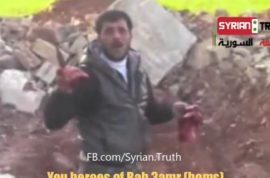 Video: Syrian rebel commander cuts out and eats heart of government soldier.