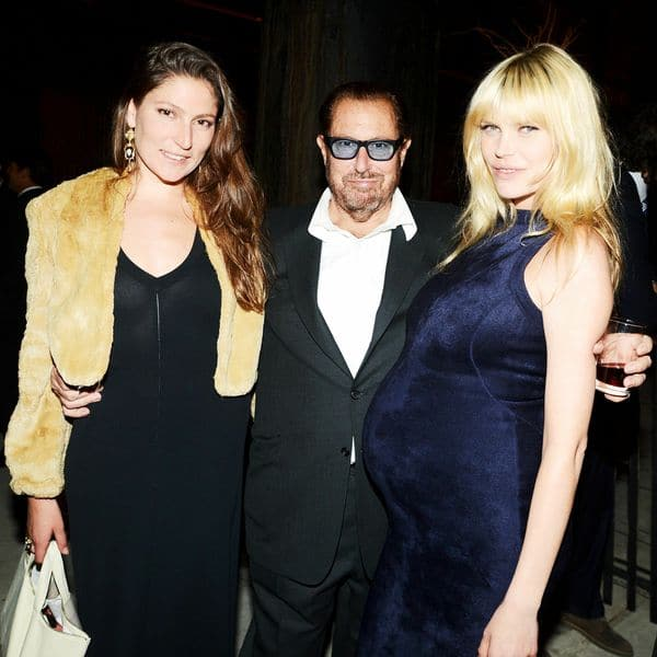 Stella Schnabel, Julian Schnabel center and May Anderson far right.