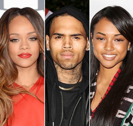 Rihanna, Chris Brown and Karrueche Tran