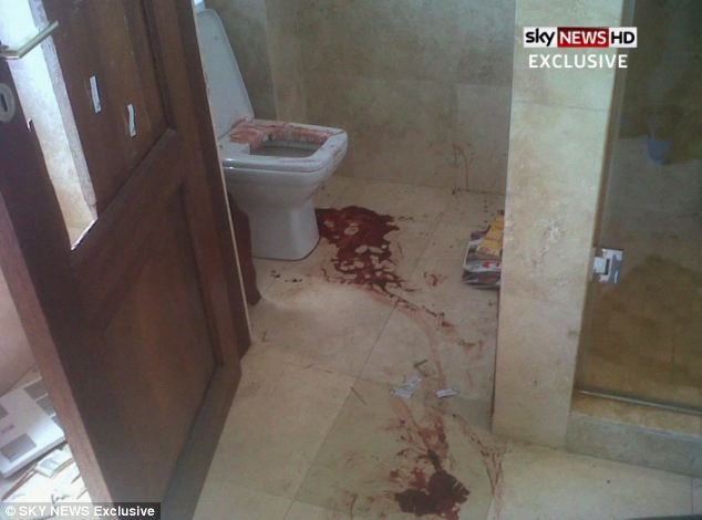 Oscar Pistorius bathroom