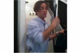 NYU Professor Ross Finocchio busted for spying on naked women.