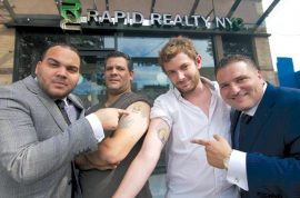 Rapid Realty offers its 800 employees 15 % pay raise if they tattoo company logo.
