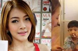 Thai Beauty Queen disqualified after video of her showing a 5 year old boy to snort Special K. Faces jail…
