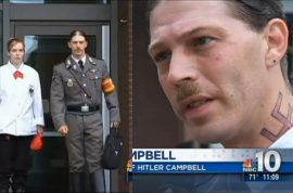 Father who named his son Adolf Hitler turns up to custody hearing wearing nazi uniform.