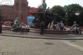 Video: Naked man shot dead in Berlin by cops.