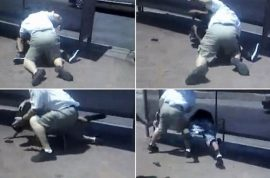 Oh really, here's video tape of a Arizona bus driver beating up a passenger.