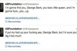 Alec Baldwin breaks down on twitter: still hates journalists and fags.