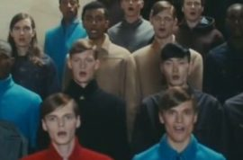 Here are a bunch of male models singing Daft Punk's Get lucky.