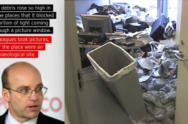 Oh really? Politico's Mike Allen wants to show you a picture of his former desk.