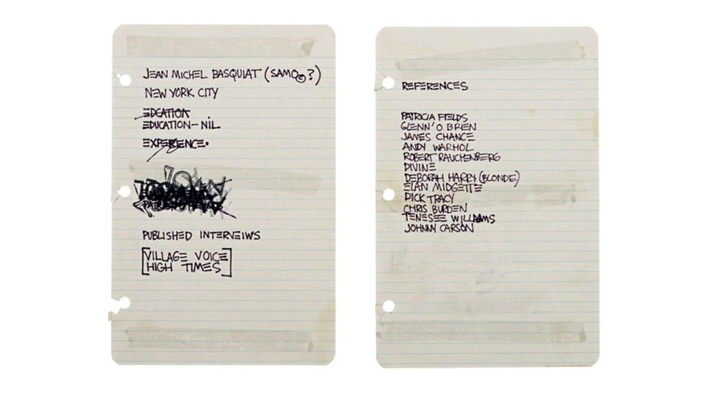 Jean Michel Basquiat resume