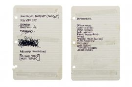 Oh really? Jean Michel Basquiat's resume sells for $50 000.
