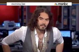 Russell Brand goes out of his way to teach MSNBC how to interview him.