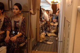And here are the messy images of one very turbulent Singapore Airlines flight.