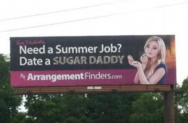 Sugar daddy billboard ad causes outrage. Need a summer job?