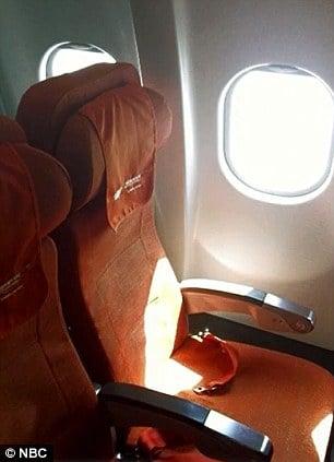 Empty Edward Snowden plane seat