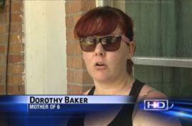 Dorothy Baker runs over her carjacker for good measure.