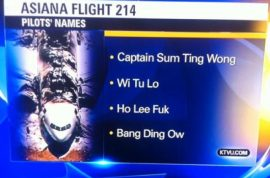 NTSB intern blamed for assaulting us with fake Asiana pilot names.