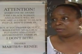 Martha-Renee Kolleh posts warning to racist customers: 'I am a black woman.'
