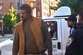 Soho residents pissed off at wild man of Soho panhandler who refuses to leave.